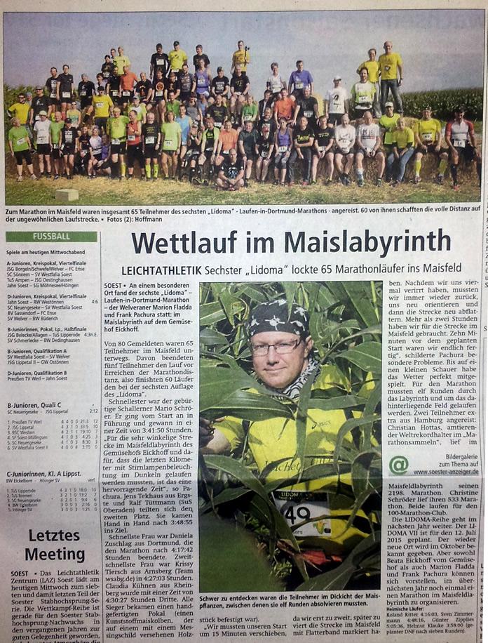 Soester Anzeiger vom 24. September 2014
