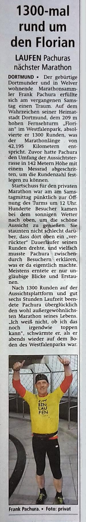 Soester Anzeiger vom 6. April 2016